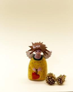 Angelo giallo piccolo in ceramica