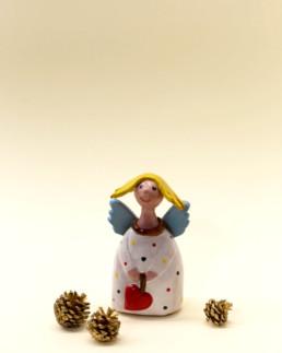 Angelo bianco piccolo in ceramica
