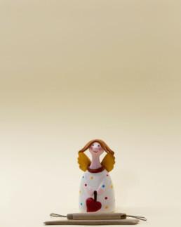 Angelo bianco piccolo in terracotta