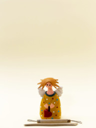 Angelo ocra piccolo in terracotta