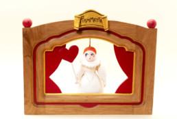 """Teatrino in legno e terracotta - """"Fiammetta"""""""