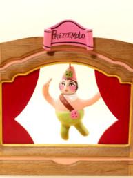 """Teatrino in legno e terracotta - """"Prezzemolo"""""""