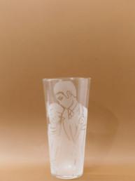 Bicchiere uomo e donna