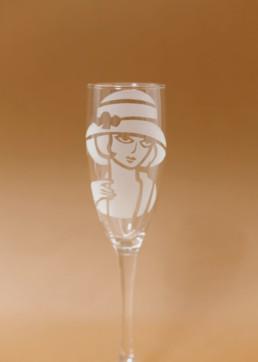 Bicchiere donna 22x5,5cm